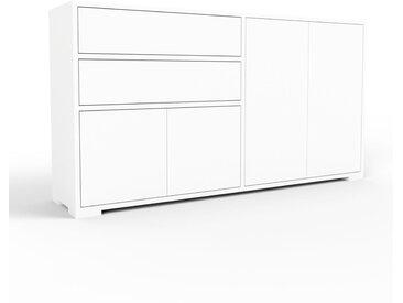 Enfilade - blanc, design, buffet, avec porte blanc et tiroir blanc - 152 x 81 x 35 cm
