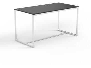 Table basse en verre fumé dépoli, design industriel, bout de canapé raffiné - 81 x 45 x 42 cm, personnalisable