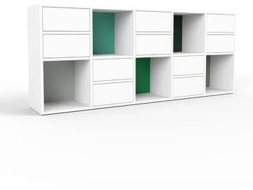 Commode - blanc, pièce de caractère, sophistiquée, avec tiroir blanc - 195 x 80 x 35 cm, personnalisable
