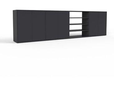 Buffet - noir, pièce modulable, enfilade, avec porte noir - 301 x 80 x 35 cm