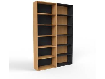 Bibliothèque en chêne, bois massif, aspect intemporel et naturel, étagère pour livres de qualité, solide et robuste - 152 x 233 x 35 cm