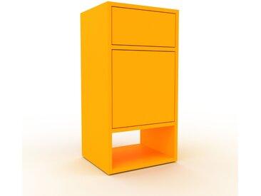 Caisson à roulette - jaune, moderne, avec porte jaune et tiroir jaune - 41 x 80 x 35 cm
