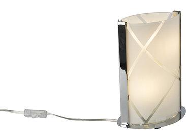 Lampe de table design chrome en verre - Tabby