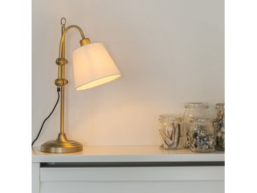 Lampe de table classique en bronze avec abat-jour blanc - Ashley