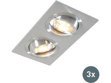Spot encastré aluminium lot de 3 - Lock 2