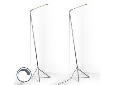 Set de 2 lampadaires Lazy Lamp chromes
