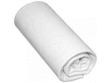 Drap Housse Bébé 100% Coton Blanc 60x120 - Bonnet 15 cm