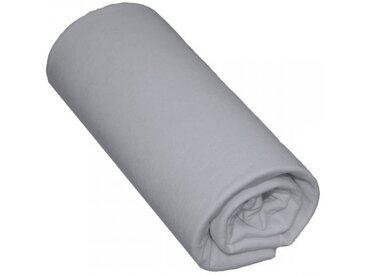 Drap Housse Bébé 100% Coton Gris 60x140 - Bonnet 15 cm