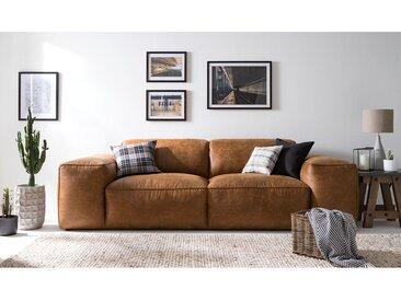 Grand canapé Burrill Aspect cuir vieilli