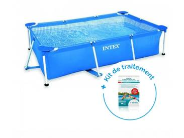Pack Piscine tubulaire Intex MetalFrame Junior 3 x 2 x 0.75 m + Traitement pour piscines < 10 m³