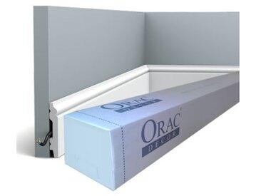 Carton complet de 32 mètres de Plinthe SX165 Orac Decor - 7x1x200 (h x p x l) - rigideouflexible : rigide - conditionnement : Carton complet