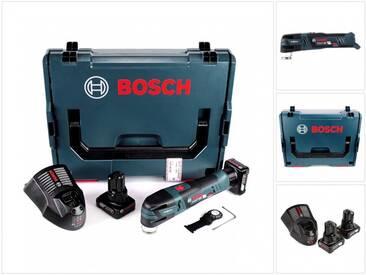 Bosch GOP 12V-28 Professional Découpeur-ponceur sans fil Brushless avec Starlock + boîtier L-Boxx + 2x Batteries GBA 12 V 6,0 Ah + Chargeur GAL 1230 CV