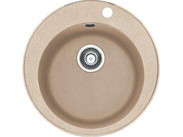 RONDO - Fragranit évier ROG 610-41 beige sable, 510mm, cuve ronde (114.0284.724)