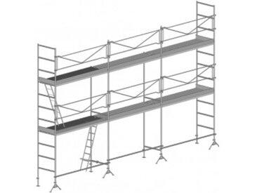 A. Echafaudage de maçon de 60m²: Structure seule
