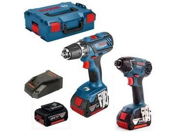 Pack 2 machines GSR 18-2-LI Plus + GDR 18 V LI 3 x 4 Ah en L-BOXX BOSCH 0615990J5E