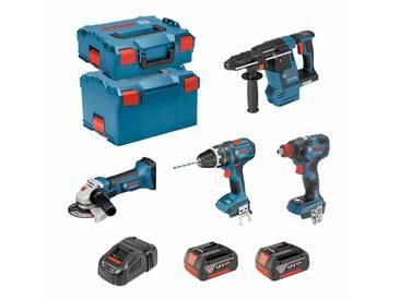 BOSCH Kit PSG4P2D (GBH 18V-26F + GSB 18V-21 + GWS 18-125 V-LI + GDX 18V-200C + 2 x 5,0Ah + GAL1880CV + L-Boxx 238 + L-Boxx 136)
