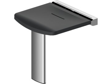 Siège de douche Onyx - AKW - Noir et charnières noires - 463x448x470mm