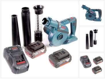 Bosch GBL 18 V-120 Professional Souffleur sans fil + 2x Batteries GBA 18V 5,0 Ah + Chargeur GAL 1880 CV