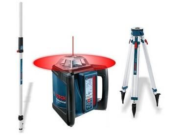 Pack laser rotatif horizontal/vertical BOSCH GRL 500 HV + trépied BT170 + mire GR240 - 06159940EF