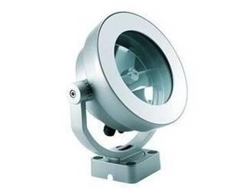 Projecteur Led 5W argent Ø 240mm luxeon blanc froid 6000K faisceau 2° alim élec extérieur IP66 BCP725 BEAMER PHILIPS 478258
