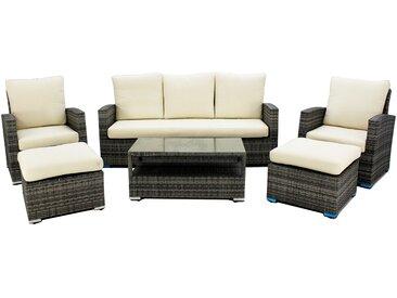 Ensemble canapé 3 places avec 2 fauteuils, 2 tabourets et Table Hevea Rimini -8
