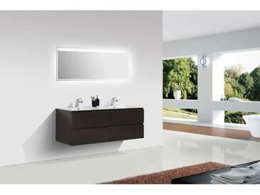 Meuble salle de bain Alice 1380 marron gris Miroir en option: Brillant, Avec miroir 2137