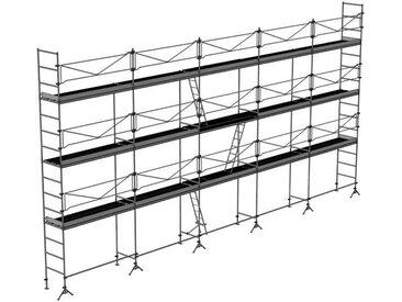 Echafaudage de maçon de 128m²: Structure seule