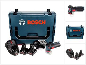 Bosch GWS 12V-76 Professional Meuleuse angulaire sans fil avec boîtier L-Boxx 2x Batteries GBA 6,0 Ah + 1x Chargeur GAL 1230