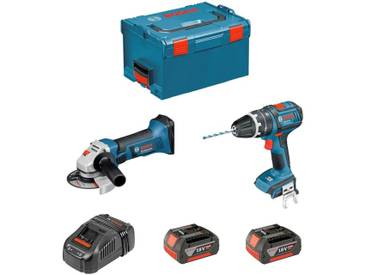 BOSCH Kit PSL2M2C (GWS 18-125 V-LI + GSB 18V-21 + 2 x 4,0Ah + GAL1880CV + L-Boxx 238)