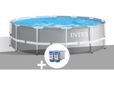 Kit piscine tubulaire Intex Prism Frame ronde 3,66 x 1,22 m + 6 cartouches de filtration