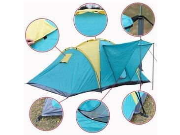 Grande Camping tente familiale 4-6 personnes 390cm imperméable en plastique PE