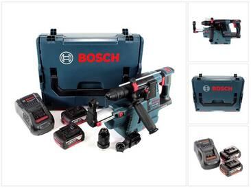 Bosch GBH 18 V-26 F Perforateur sans fil Professional SDS-Plus avec Boîtier de transport L-Boxx + Collecteur de poussière sans fil GDE 18 V-16 + 2x Batteries GBA 5 Ah + Chargeur GAL 1880 CV