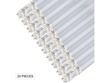 20×Auralum 90CM Néon Tube LED 12W T8 G13 Blanc Froid 6000~6500K 1200LM LED Lumière Fluorescente avec Couverture Blanche Laiteuse Starters Fournis