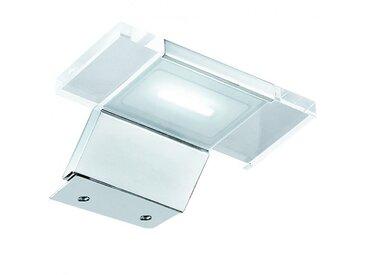 Spot de salle de bain avec éclairage LED - Modèle Spot Futuriste - 3,6 cm x 12,5 cm (HxL)