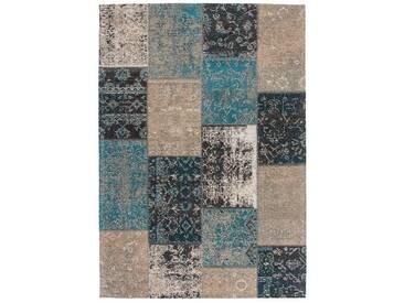 Tapis fait main en polyester Cocoon Lalee Bleu 80x150