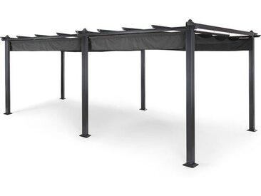 Blumfeldt Pantheon Pergola auvent 3x6 m aluminium Parasol Polyester - gris