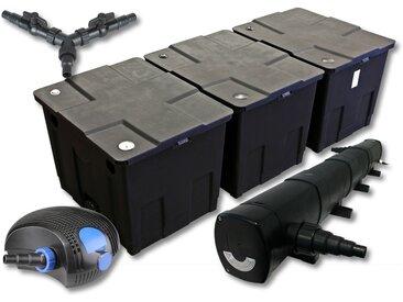 SunSun Kit de filtration de bassin pour 90000l avec 72W Stérilisateur et 100W éco Pompe