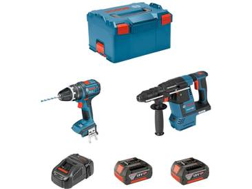 BOSCH Kit GBH 18V-26F + GSB 18V-21 (2 x 4,0Ah + GAL1880CV + L-Boxx 238)