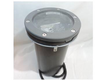 Encastré de sol gris Ø 200mm lampe iodure 20W blanc chaud 3000K ballast elec EB IP67 IK10 DBP521 DECOSCENE PHILIPS 727165