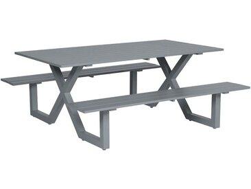 Garden Impressions - Table de pique-nique Napels - L180xW180xH71 - gris arctique