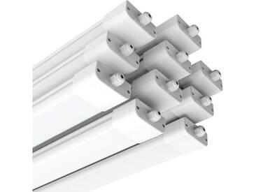 10×Anten 120CM Tube LED 36W Plafonnier Néon Tube LED Étanche IP65 Lampe sur Plafond Anti-Poussière Anti-Corrosion et Anti-Choc Tube Ampoule LED Blanc Neutre 4000K