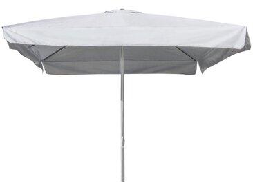 Parasol de jardin 3x3 aluminium carré pôle central bar hôtel MARTE   avec volant