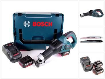 Bosch GSA 18V-32 Professional Scie sabre sans fil brushless avec boîtier L-Boxx + 2x Batteries GBA 5,0 Ah + Chargeur GAL 1880 CV ( 06016A8107 )