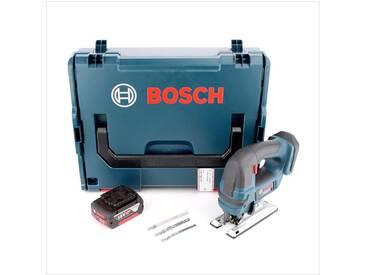 Bosch GST 18 V-Li B Professional Scie sauteuse sans fil avec boîtier L-Boxx + 1x Batterie GBA 5,0 Ah - sans Chargeur