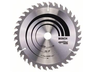 Lame de scie circulaire Optiline Wood 190x20x2,6mm 36 dents BOSCH 2608640613