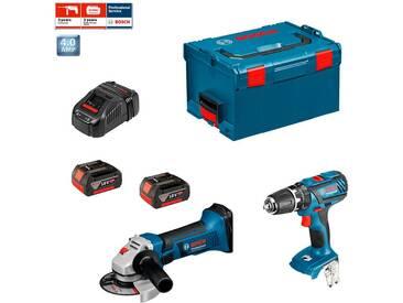 BOSCH KIT PSL2M2 (GWS 18 V-LI + GSB 18-2-LI Plus + 2 x 4,0 Ah + GAL1880CV + Coffret L-BOXX 238)