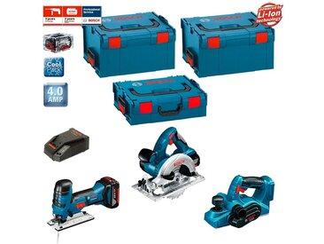 BOSCH Kit PSL3WM2B (GST 18 V-LI S + GKS 18 V-LI + GHO 18 V-LI + 2 x 4,0 Ah + GAL1880CV + 2 x L-Boxx 238 + L-Boxx 136)