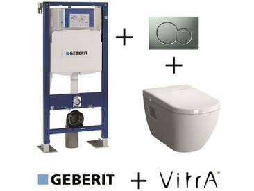 Pack Geberit UP320 + Cuvette D-Light VitraFresh + Sigma Chromé Mat