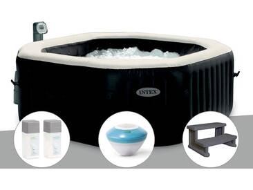 Spa gonflable Intex PureSpa octogonal Bulles et Jets 6 places + Kit Traitement + Enceinte LED + Marche Spa