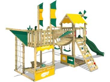 Aire de jeux WICKEY Smart Wing Tour de jeux avec balançoire et toboggan vert